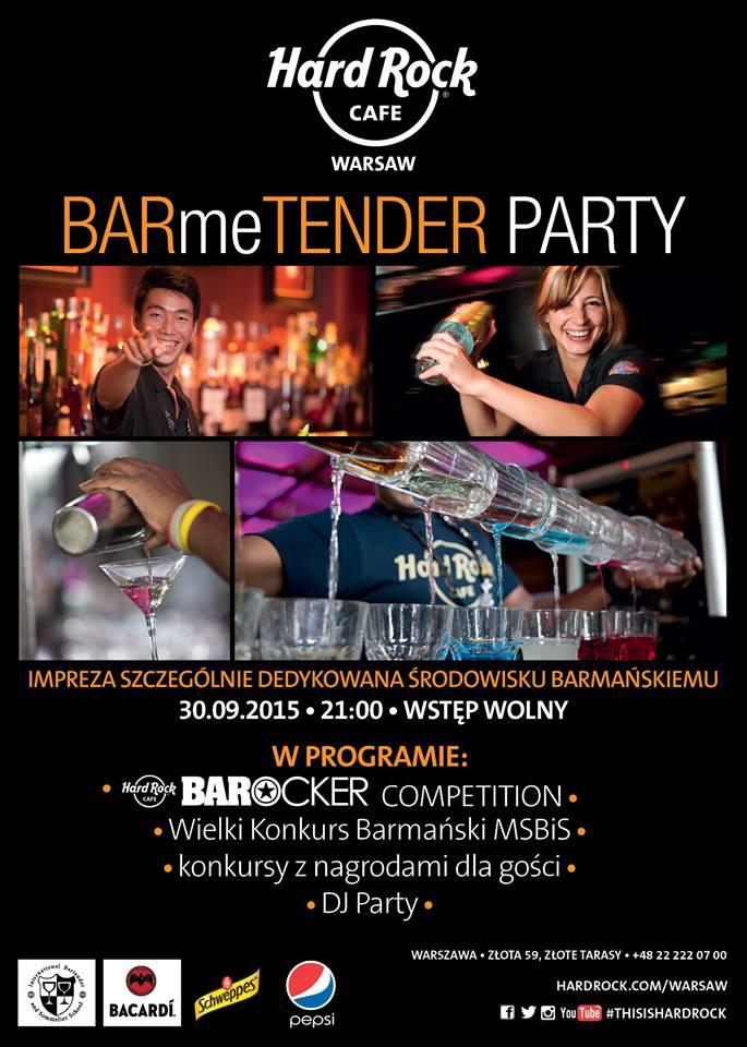 BARme TENDER Party Hard Rock Cafe
